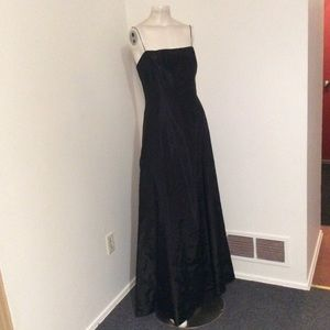 Vintage Laundry Black Train Twist Back Prom Dress